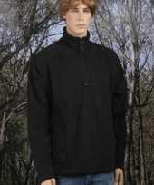 Heren fleece trui zwart