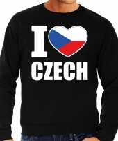 I love czech trui trui zwart heren
