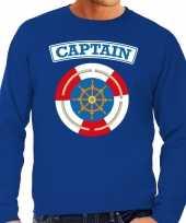 Kapitein captain verkleed trui blauw heren