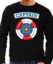 Kapitein captain verkleed trui zwart heren