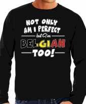 Not only perfect belgian belgie trui zwart heren