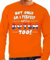 Not only perfect dutch nederland trui oranje heren