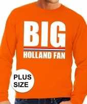 Oranje big holland fan grote maten trui trui heren
