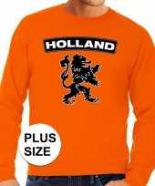 Oranje holland leeuw grote maten trui trui heren