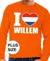 Oranje i love willem grote maten trui trui heren