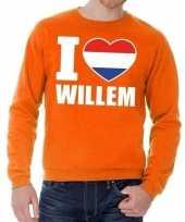 Oranje i love willem trui volwassenen