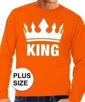 Oranje koningsdag king kroon grote maten trui trui heren