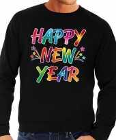 Oud nieuw trui trui happy new year zwart heren