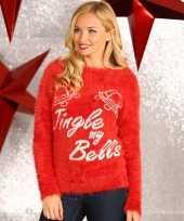Rode dames kersttrui jingle my bells