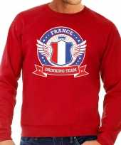 Rood france drinking team trui heren