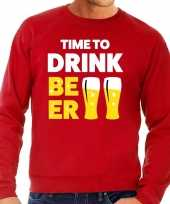 Toppers time to drink beer tekst trui rood