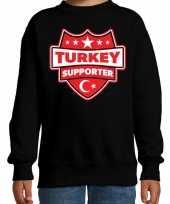 Turkije turkey schild supporter trui zwart kinderen