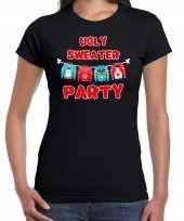 Ugly trui party kerstshirt outfit zwart dames